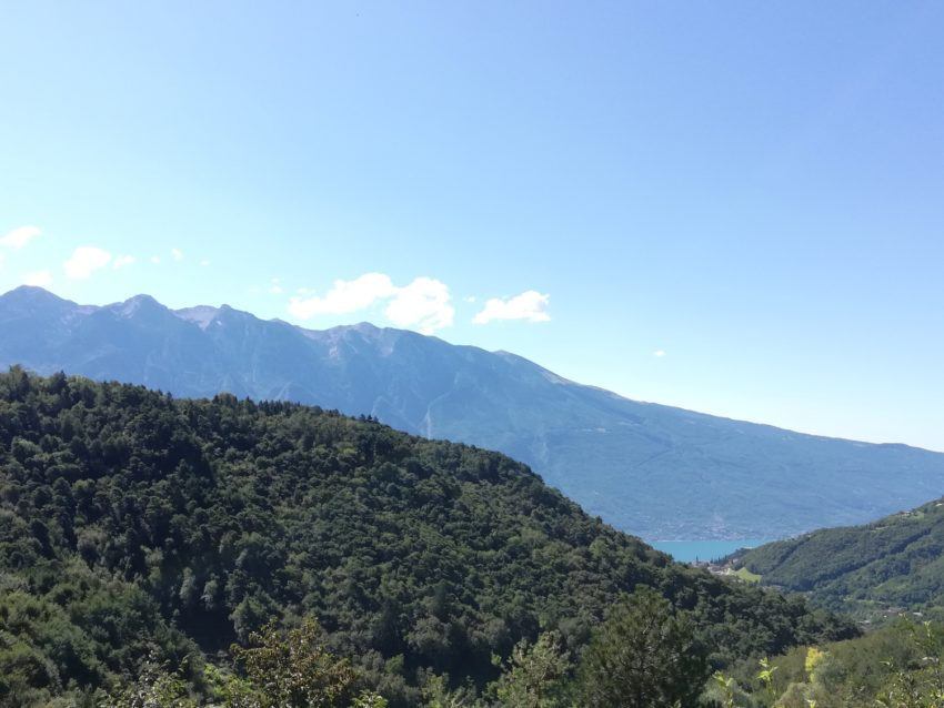 Blick auf Bergkette Monte Baldo