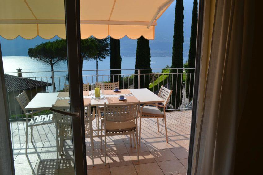 Terrasse mit Sitzplatz des Casa Maddalena