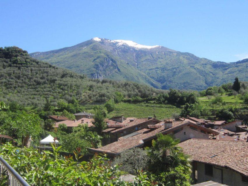Blick über Arco zum Monte Baldo