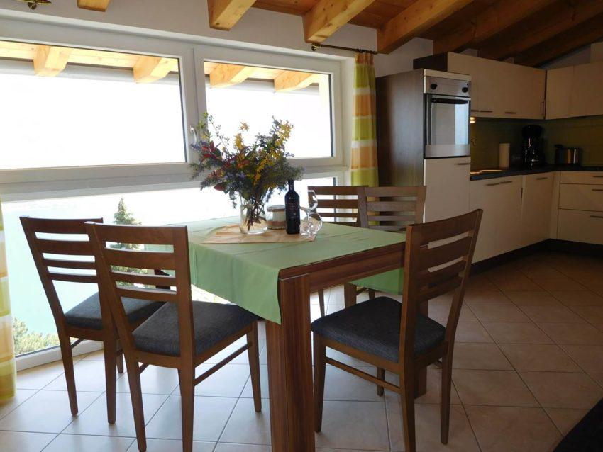 Wohnküche mit Ausblick Fewo Belvedere